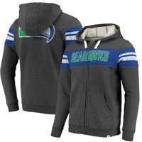Seattle Seahawks NFL Pro Line by Fanatics Branded True Classics Throwback Full-Zip Hoodie - Heathered Gray