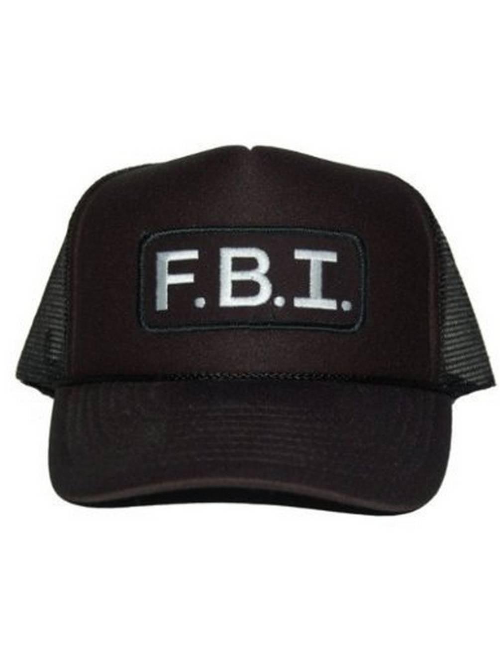Vintage Mesh Trucker Hat - FBI Cap - Walmart.com 75b78a7bdcf