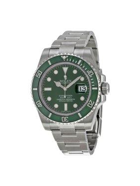 Rolex Men's 40mm Steel Bracelet & Case Sapphire Crystal Automatic Green Dial Analog Watch m116610lv-0002