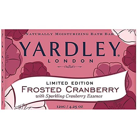 - Yardley Limited Edition Bath Soap - Frosted Cranberry