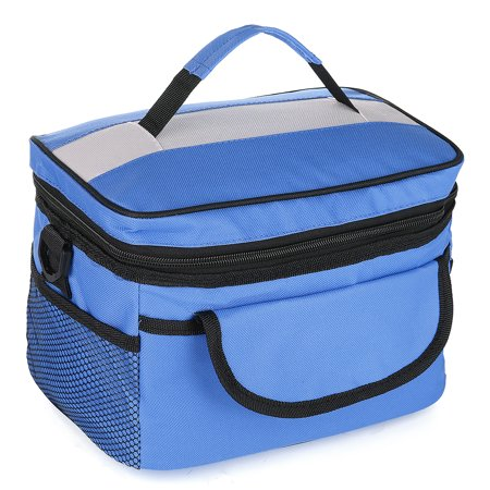 Large/Medium Capacity Waterproof travelingbag Insulated Lunch Cooler Bag Box Tote Large Capacity Work School Travel Picnic Hot Cold For Men Women Kids Shoulder Strap - Large Lunch Box