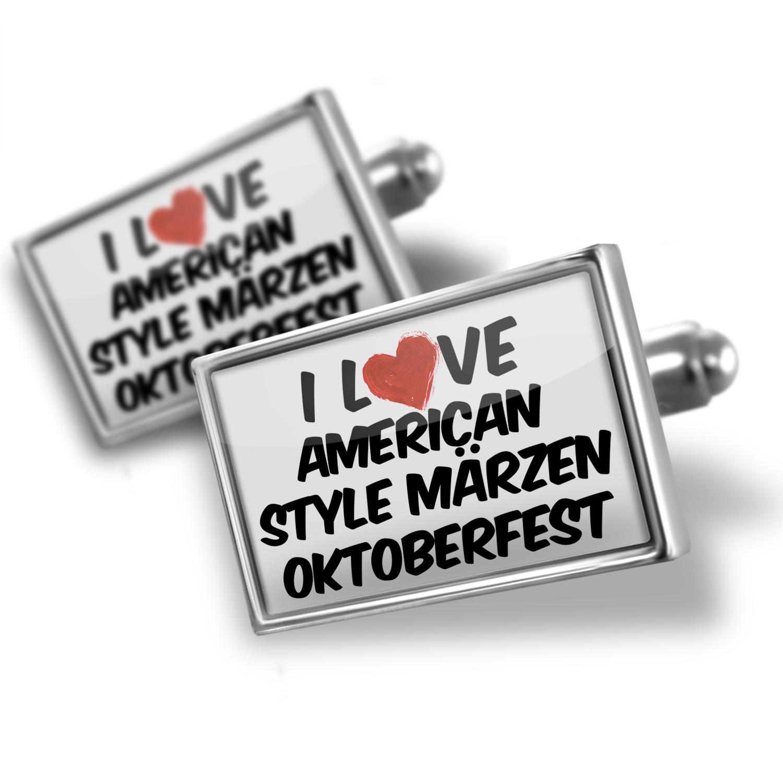 Cufflinks I Love American Style Märzen Oktoberfest Beer - NEONBLOND