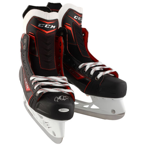 Click here to buy Connor McDavid Edmonton Oilers Fanatics Authentic Autographed CCM Jet Speed Game Model Hockey Skates Upper Deck No Size by Sports Memorabilia.