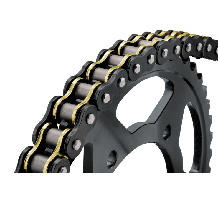 BikeMaster 520 BMXR Series Sealed Chain 130 Link Black/Gold