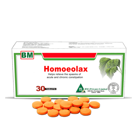 Homeolax 30 Tablets, A Gentle Herbal Laxative that Relieves the Spasms of Acute & Chronic Constipation, Fast Acting & Effect Relief with no Side