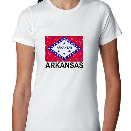 Arkansas State Flag   Special Vintage Edition Womens Cotton T Shirt