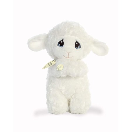 "World Precious Moments Musical Plush Toy Animal, Luffie Prayer Lamb, 10"", Item measures 10 By Aurora"