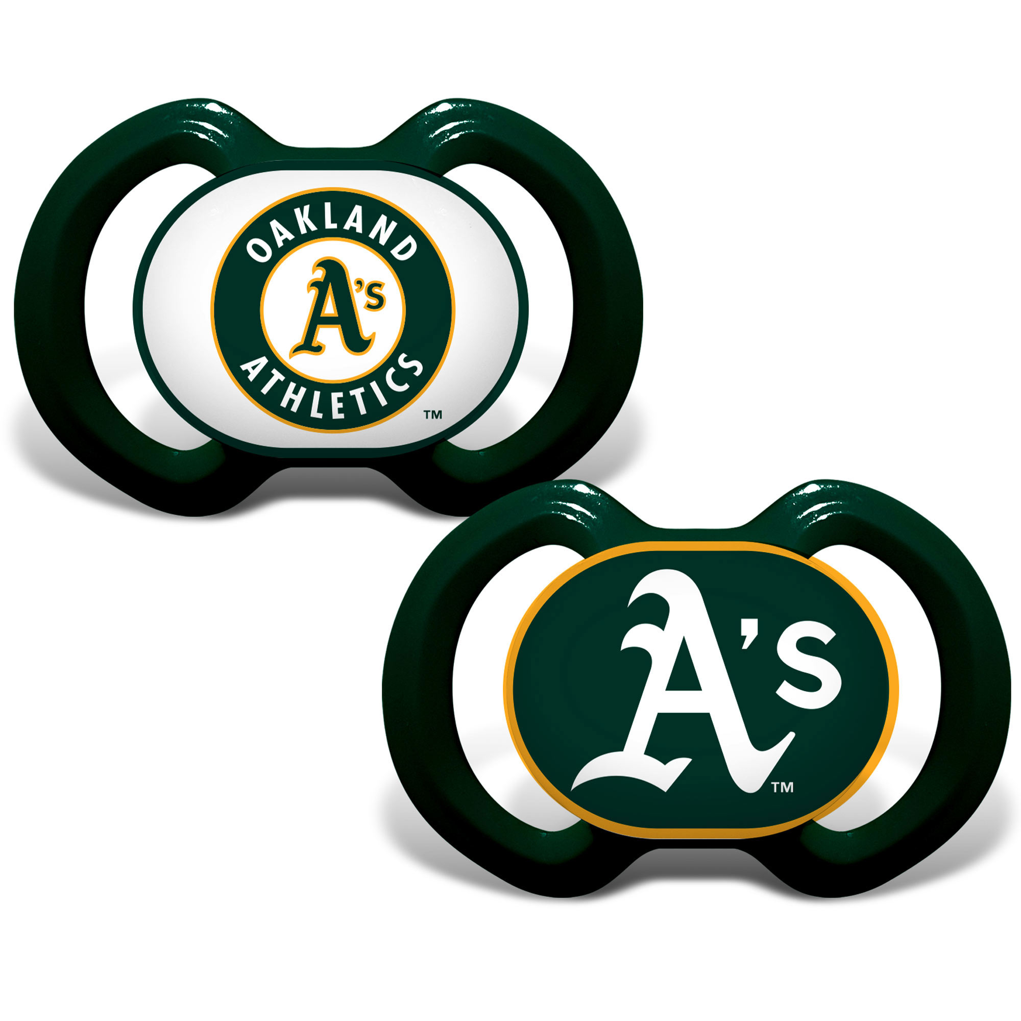 MLB Oakland Athletics 2-Pack Pacifiers