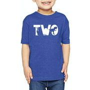 7 ate 9 Apparel 2nd Birthday Shirt for Boys Dinosaur 2 Year Old Boy Birthday Boy Dino Two T-Shirt Kids Gift Royal Blue 18 Months
