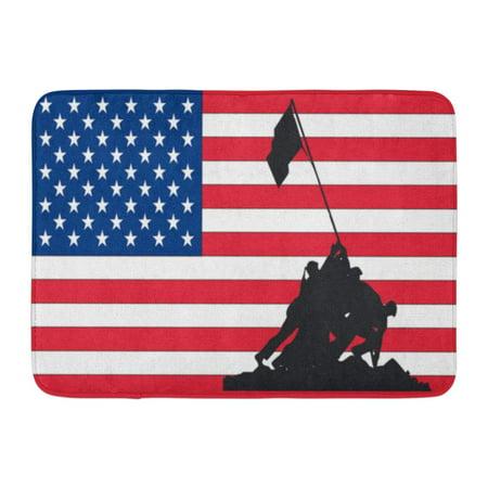 GODPOK Date America 4Th July Flag Best Day Rug Doormat Bath Mat 23.6x15.7