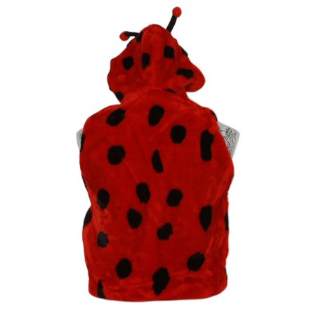 Youth Kids Wool Feel Ladybug Hooded Vest, Medium - image 1 of 2