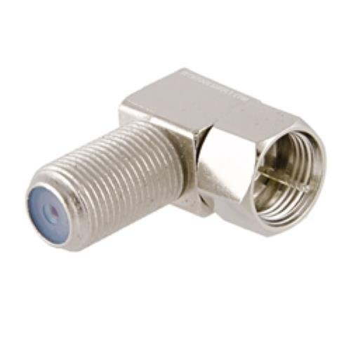 3Ghz Right Angle Coax F Adapter 2Pack