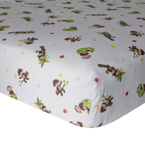 Bedtime Originals by Lambs & Ivy - Fitted Crib Sheet, Curly Tails
