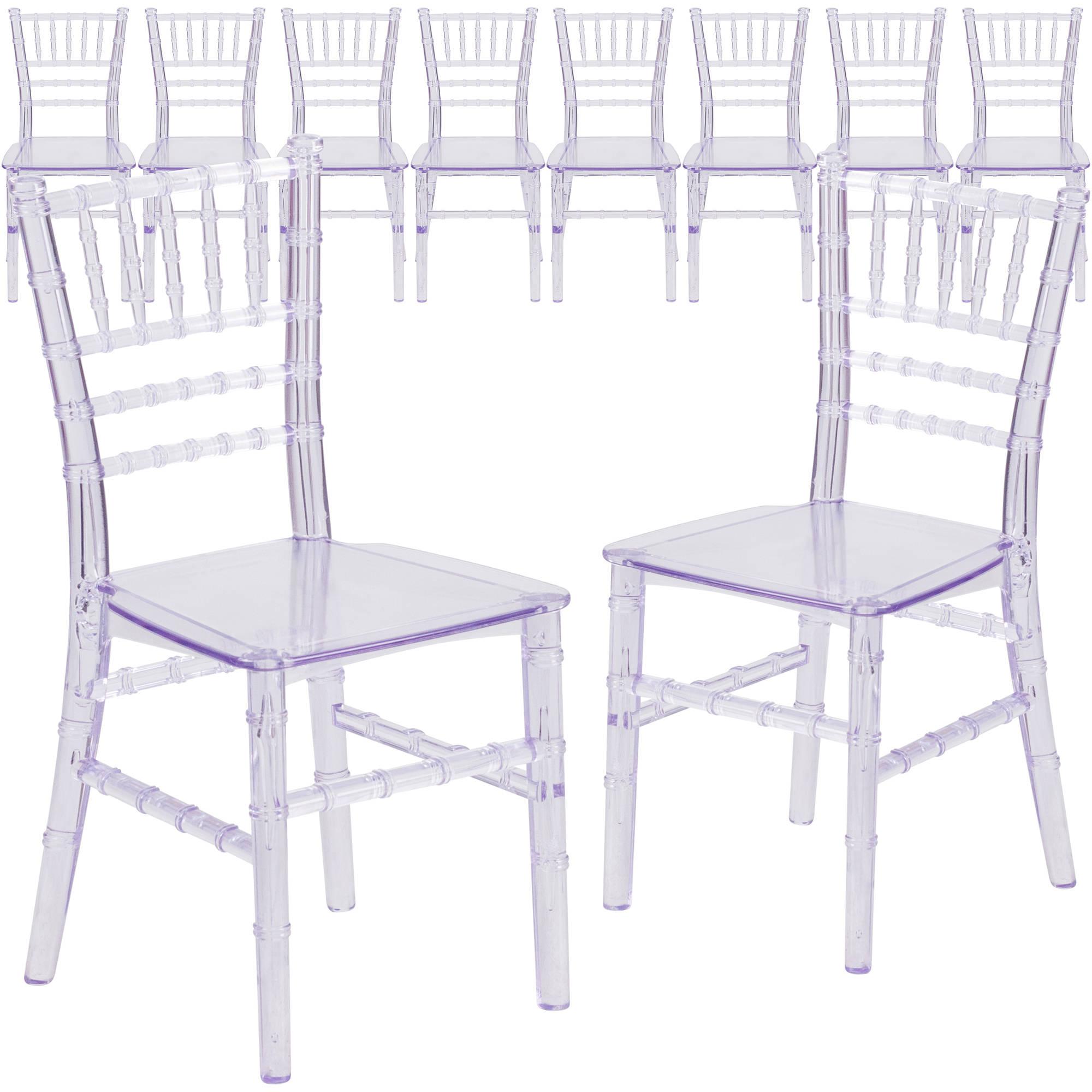 Flash Furniture 10-Pack Kids' Crystal Transparent Chiavari Chair