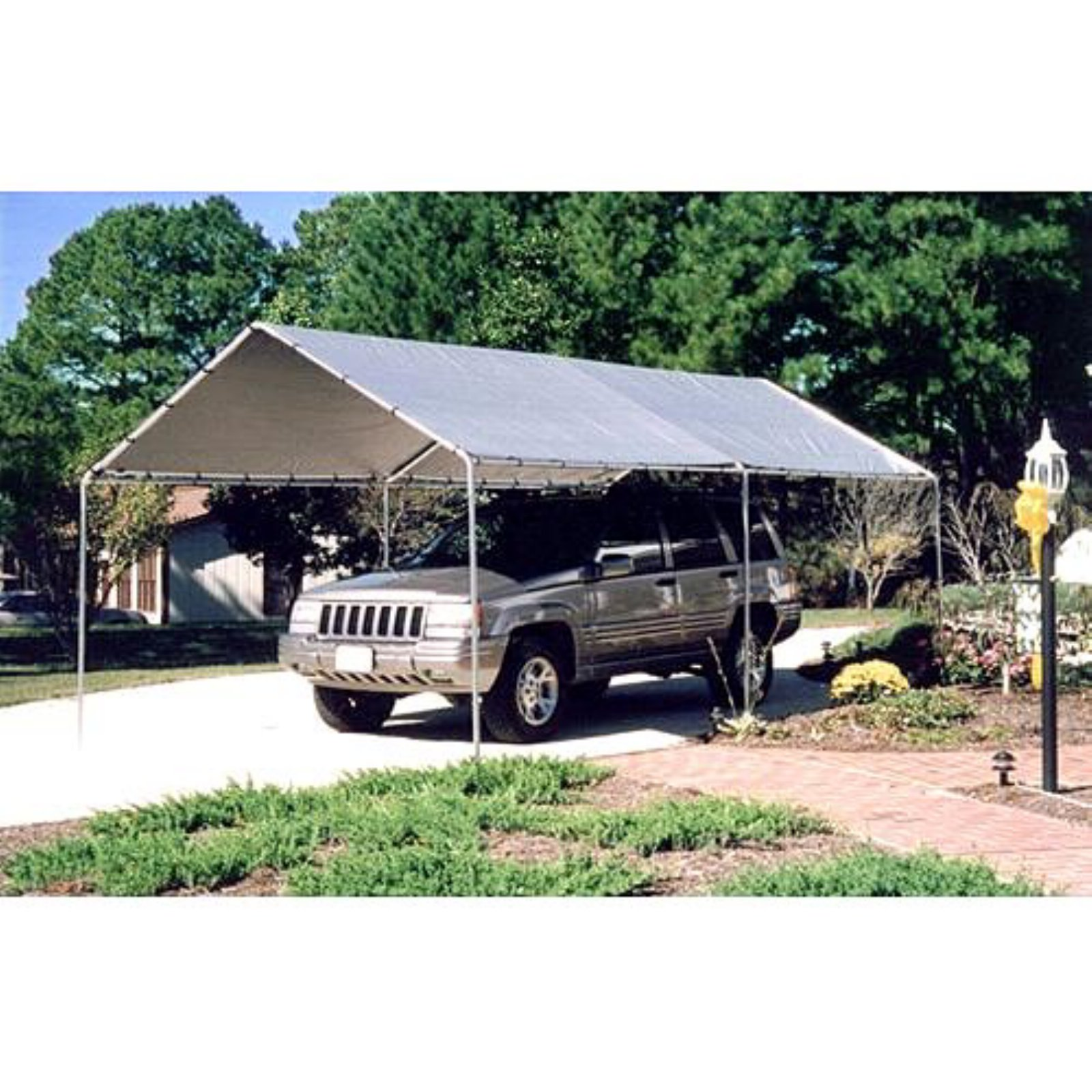 King Canopy 10 x 20 ft. Canopy Carport - 6 Legs