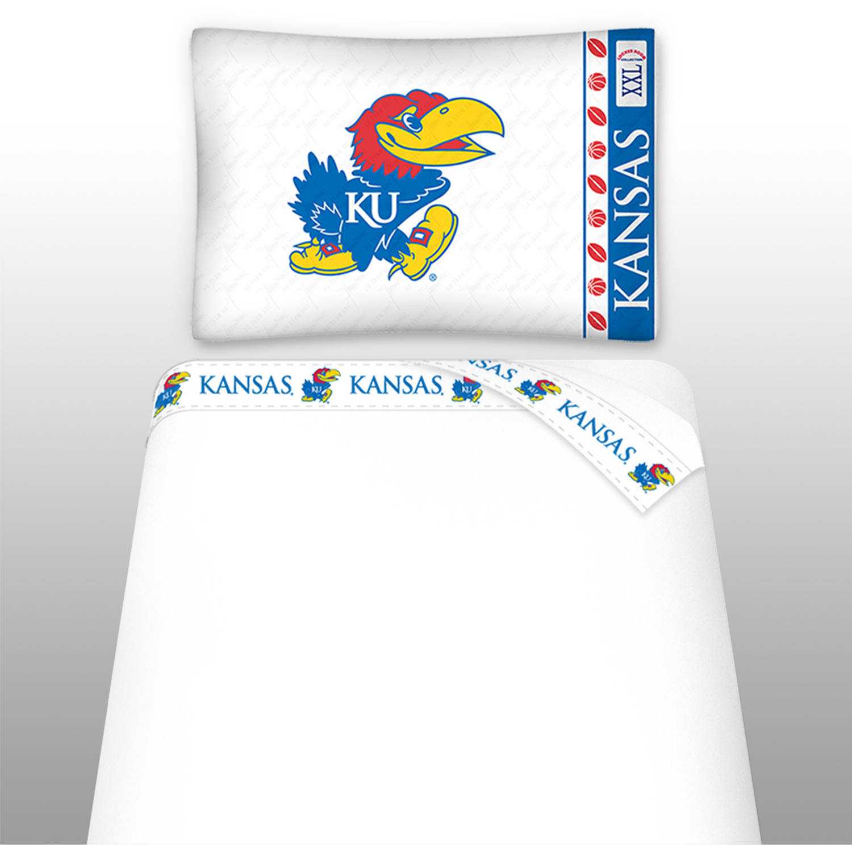 NCAA University of Kansas Micro Fiber Sheet Set