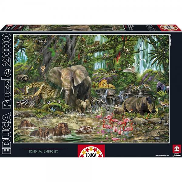 Educa African Jungle Puzzle, 2,000-Piece