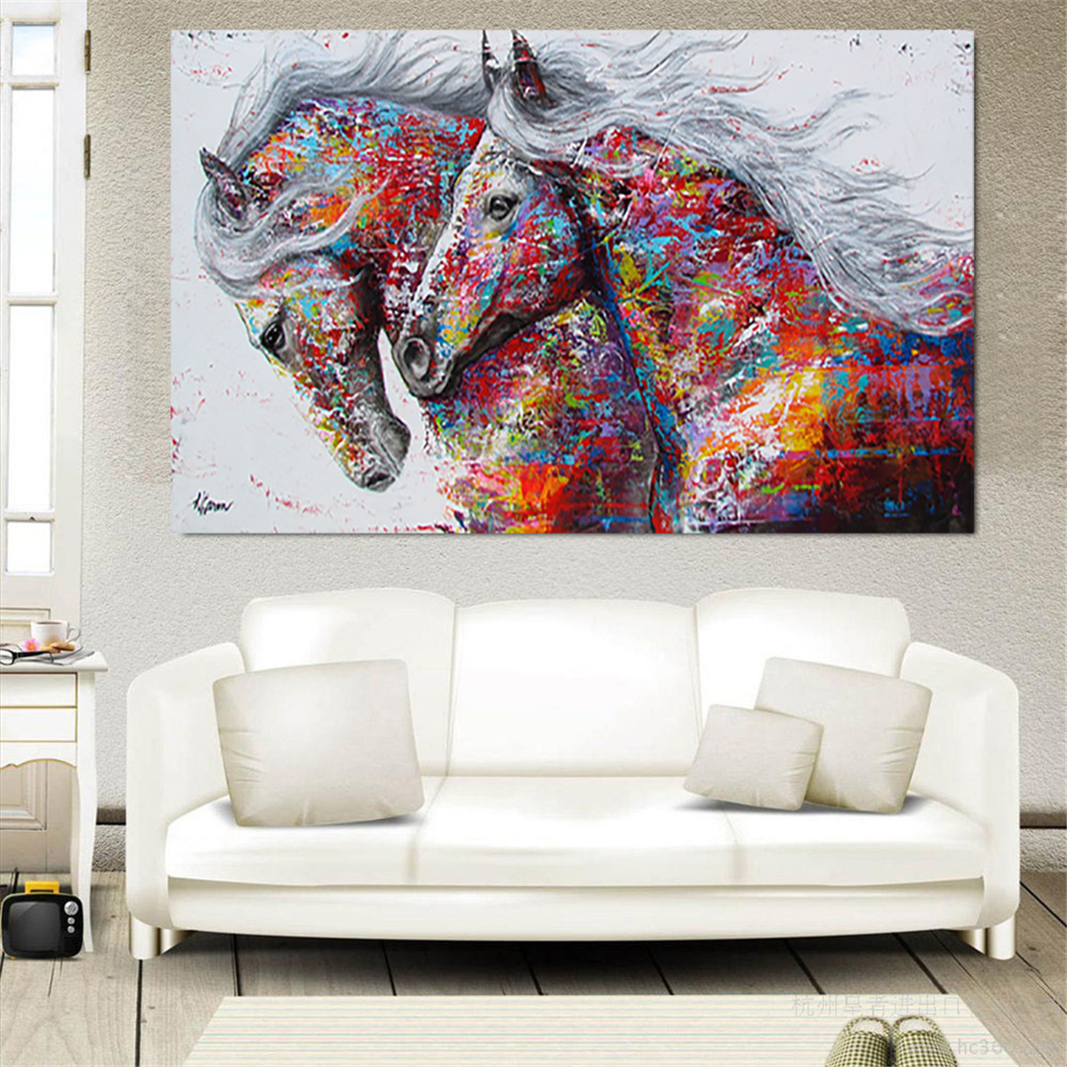 Wall Art Pictures Horse Canvas Running Animal Painting Living Room Poster Item