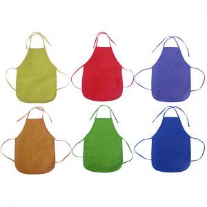 Fancyleo 6 Pack Children Painting Aprons Classroom Kitchen Community Event Art Painting Non-Woven Fabric Aprons - Community Halloween Events