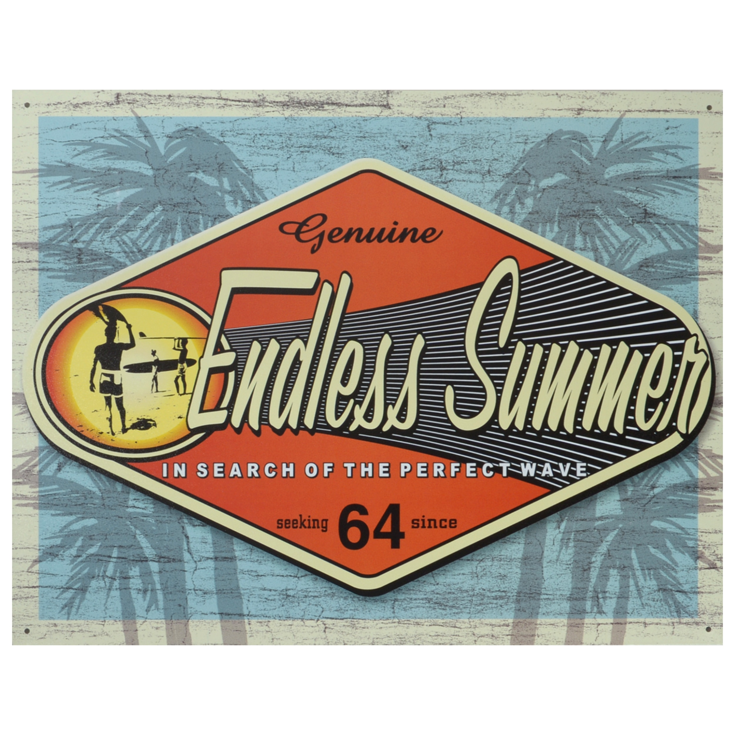 Vintage Metal Art 'Endless Summer' Decorative Tin Sign