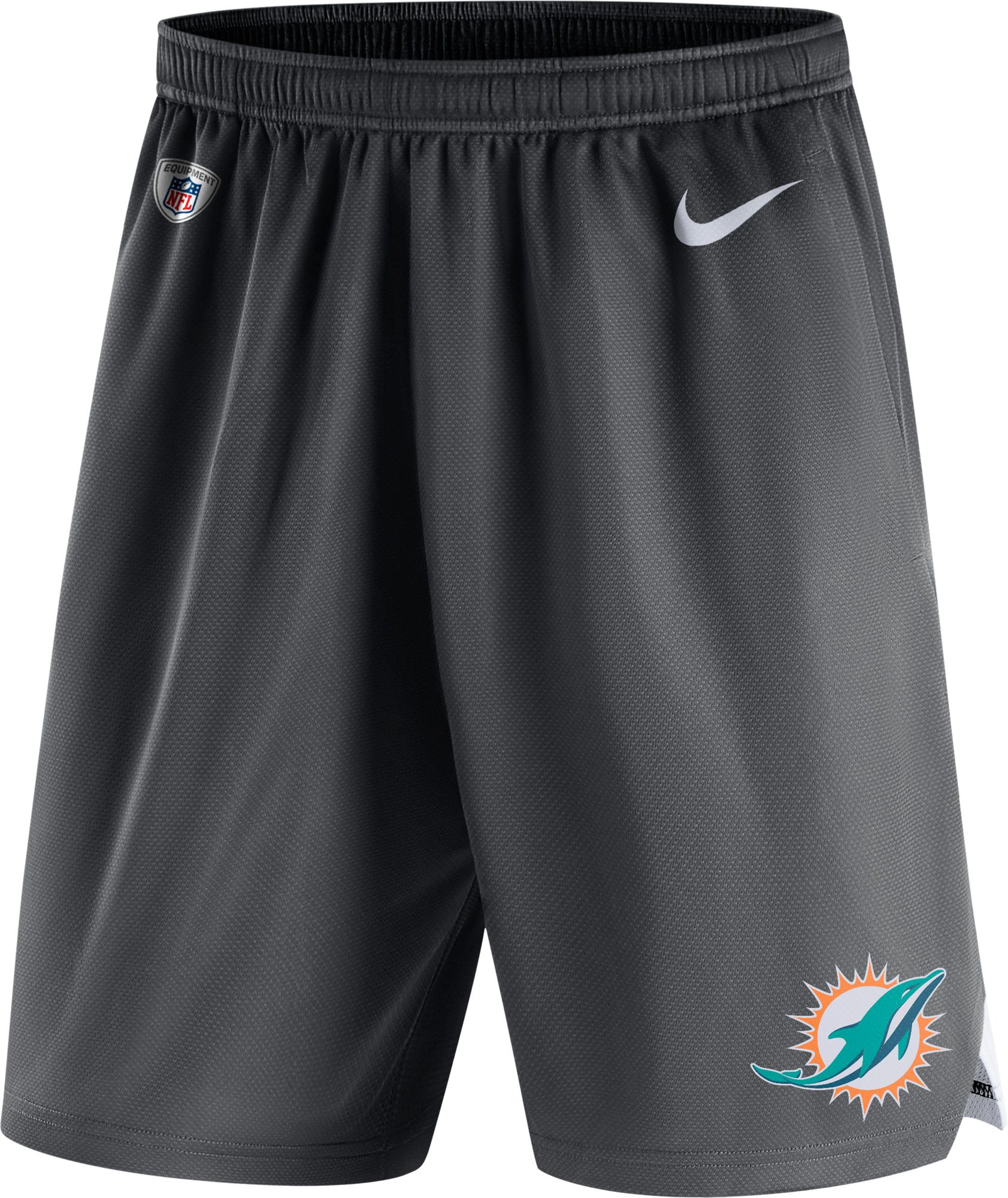 319d318b Nike Men's Miami Dolphins Dry Knit Anthracite Performance Shorts