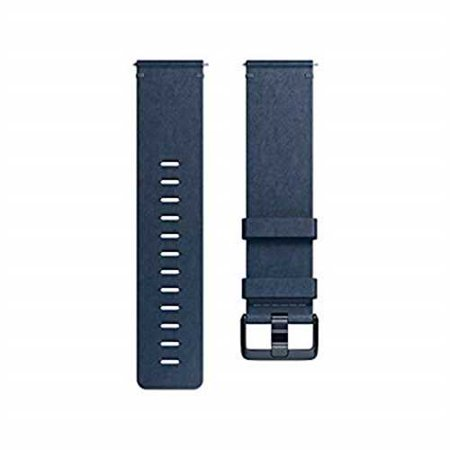 Fitbit Versa Fitness Tracker Band Small Leather - Midnight Blue
