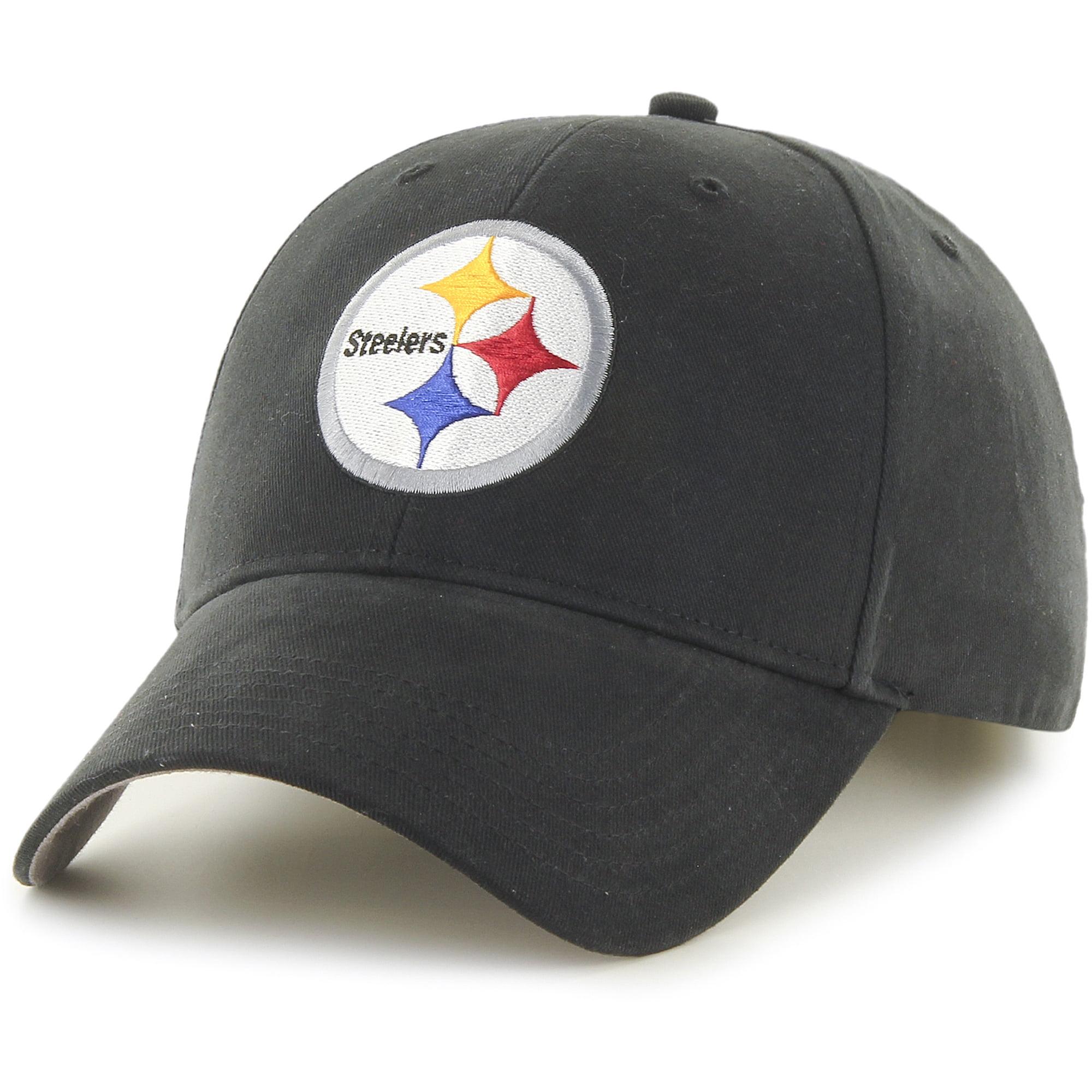 Youth Fan Favorite Black Pittsburgh Steelers Team Basic Adjustable Hat - OSFA