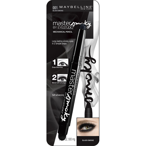 Maybelline Eye Studio Master Smoky Shadow Pencil, Black Smoke