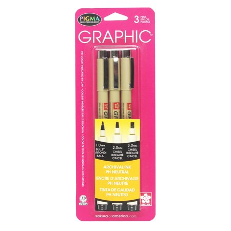 Pigma Graphic Line Pen - Pigma Black Graphic Drawing Pen