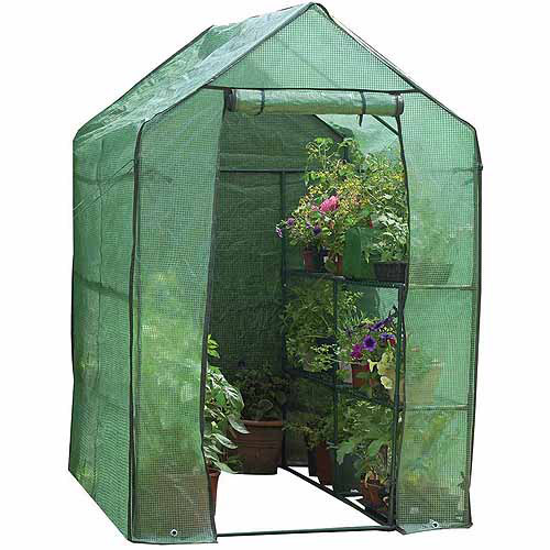 Walk-In Greenhouse with Shelves by Gardman USA Inc