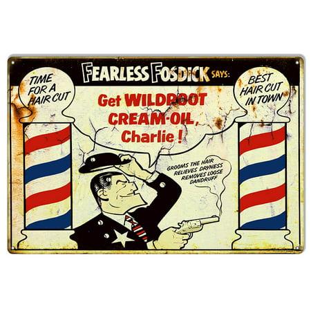 These Nostalgic Metal - Wildroot Cream Oil Nostalgic Reproduction Metal Sign 12