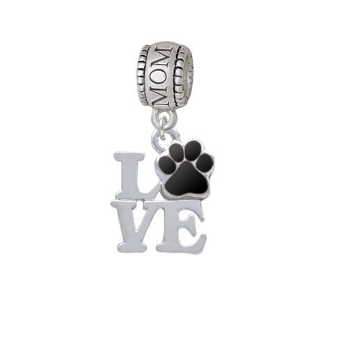 Love with Black Paw - Mom Charm Bead