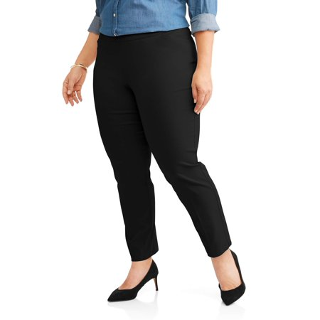 Women\'s Plus Size Stretch Woven Straight Leg Pant, Availible in Petite