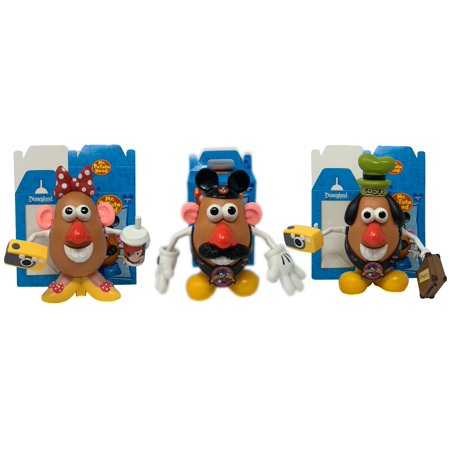Disney World Exclusive Mr Potato Head Goofy Mickey & Minnie Mouse Rare