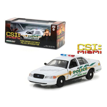 Ford Crown Victoria Police Interceptor (GREENLIGHT 1:43 CSI MIAMI - 2003 FORD CROWN VICTORIA POLICE INTERCEPTOR - MIAMI-DADE POLICE 86508 )