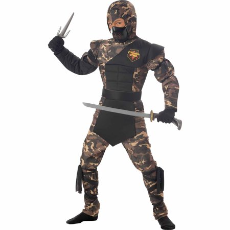 Ninja Special Ops Child Halloween Costume](Ninja Costume Makeup)