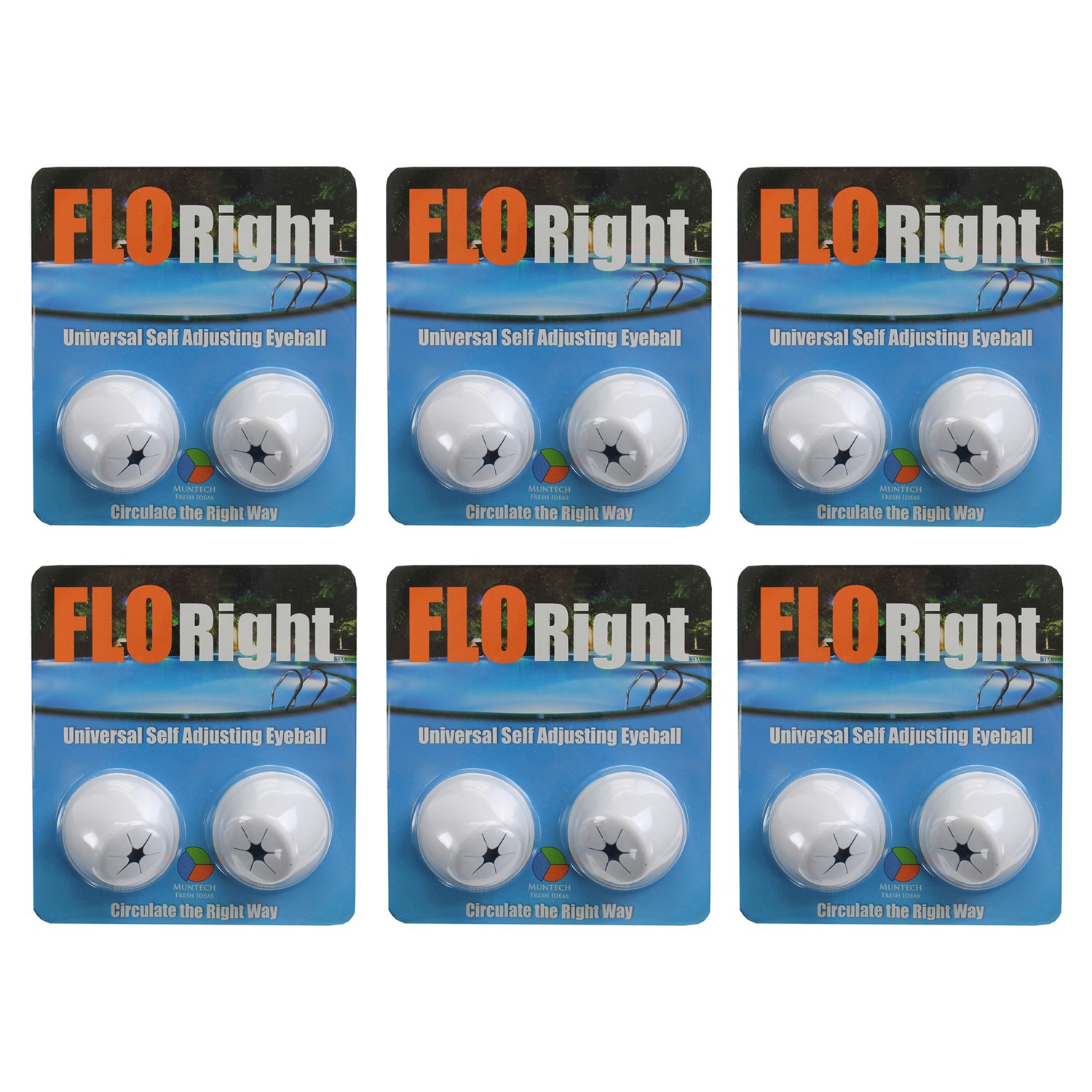 FLORight Pool Universal Self Adjusting Eyeball Replacement Circulation (6 Pack)