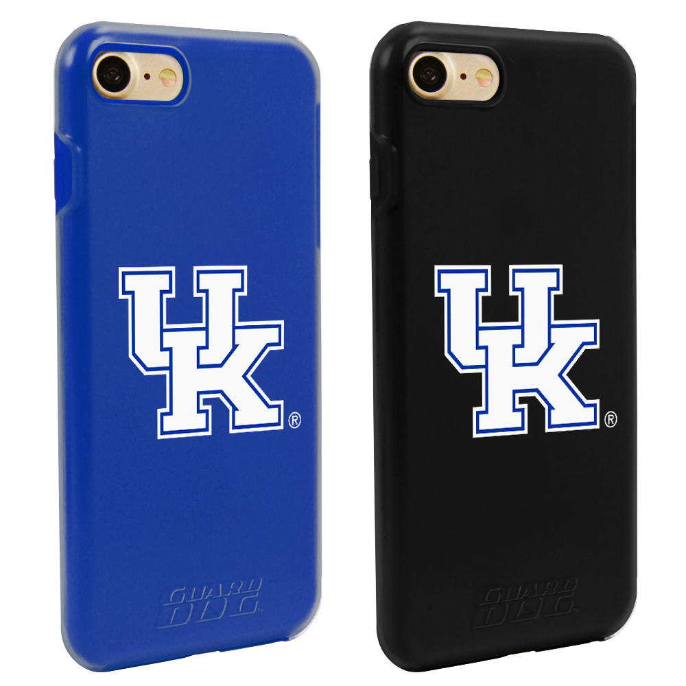 Kentucky Wildcats Fan Pack (2 Cases) for iPhone 7/8 with Guard Glass Screen Protector NCAA