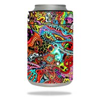 Skin Decal Wrap for YETI Colster Abstract Black