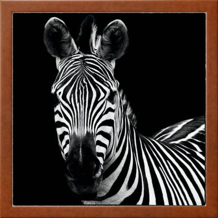 Zebra II Square Framed Print Wall Art By Debra Van Swearingen ...
