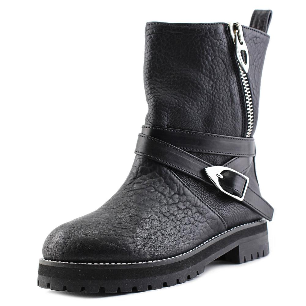 MCM MEN4A2129   Round Toe Leather  Mid Calf Boot