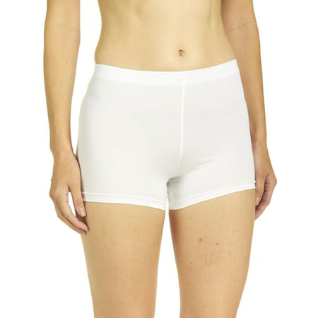 Soffe Juniors Cheer Boy Shorts, White, XSmall White Soffe Shorts