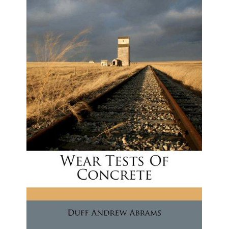 Wear Tests of Concrete - image 1 of 1