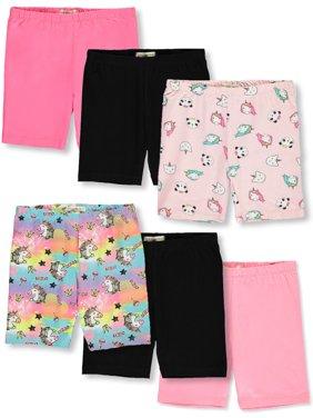 One Step Up Girls' 6-Pack Bike Shorts (Little & Big Girls)