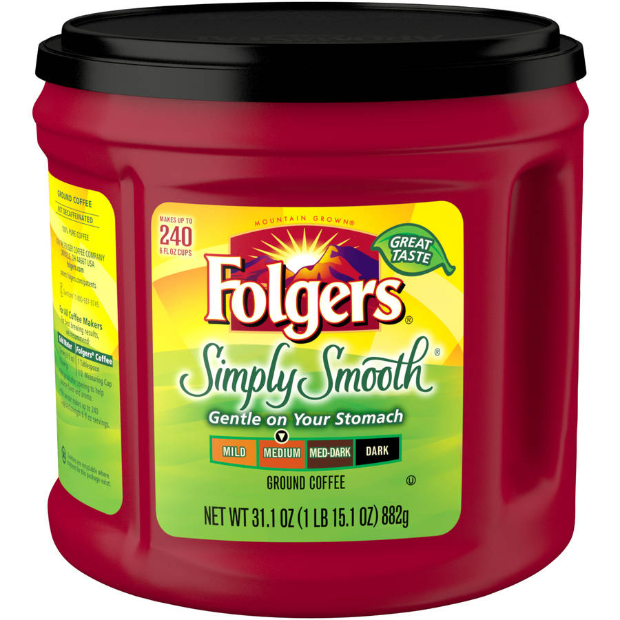 Folgers Simply Smooth Medium Roast Ground Coffee, 31.1 oz