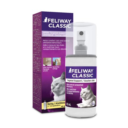 Feliway Classic Behavior Modifier Travel Spray for Cats, 60