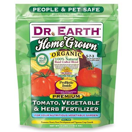 Dr. Earth 4 lb. Bag Organic Tomato Vegetable; Herb Fertilizer