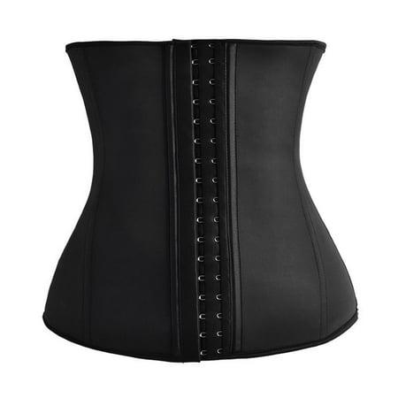f5ae98fc1a6 Rolling Waisted - Women s Latex Rubber Waist Trainer Corset Body Shaper! -  Black Xsmall - Walmart.com
