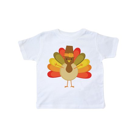 Thanksgiving Pilgrim Turkey Holiday Toddler T-Shirt