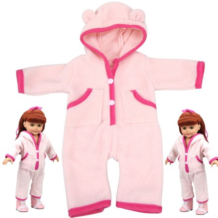 Pink Handmade Nightgown Sleep Clothes Pajamas Fits 18'' American Girl Doll Gifts (American Girl Dolls)